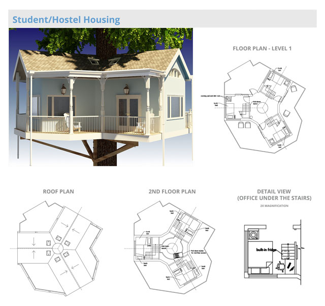 one tree house plans homemade simple tree house village residential structure final render one community house living village community pod