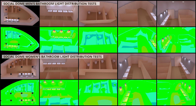 LEED Platinum Public Bathroom Lighting Tests, open source eco-lighting, green living, sustainable lights, eco-lights, LED lighting, lighting tests, One Community Global