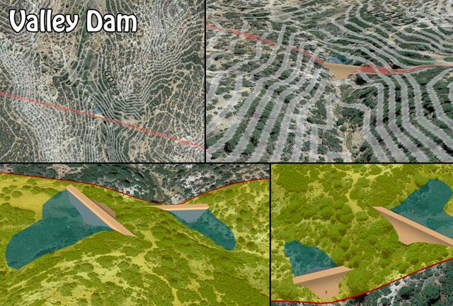 Valley Dam, Barrier Dam, Valley Dam Construction, Barrier Dam Construction, DIY Valley Dam, DIY Barrier Dam, Build Your Own Valley Dam, Build Your Own Barrier Dam, Open Source Dams, Highest Good Food, Highest Good Housing, One Community Global
