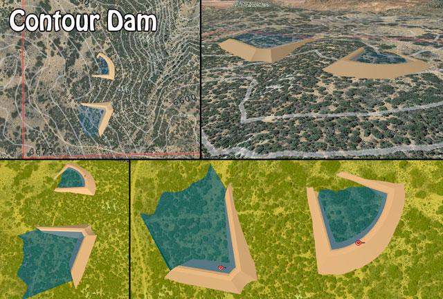Contour Dam, Contour Dam Construction, DIY Contour Dam, Build Your Own Contour Dam, Open Source Dams, Highest Good Food, Highest Good Housing, One Community Global