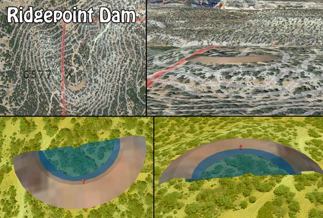 Ridgepoint Dam, Ridgepoint Dam Construction, DIY Ridgepoint Dam, Build Your Own Ridgepoint Dam, Open Source Dams, Highest Good Food, Highest Good Housing, One Community Global