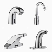 Sloan: SF-2200 SF-2100 SF-2400 SF-2300, water-saving faucets, energy-saving faucets, bathroom faucets, bathroom sink, eco-faucets, sustainable faucets, infrared sensor faucets, timer faucets, green faucets, LEED compliant faucets, Highest Good housing, sustainable bathrooms, bathroom spigot, One Community Global