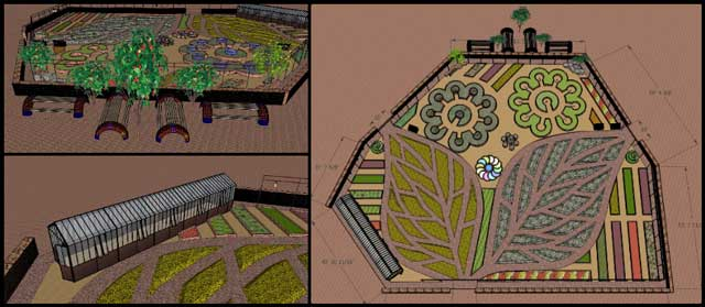 Herbal Garden design, Duplicable City Center, Implementing Global Change, One Community Weekly Progress Update #418
